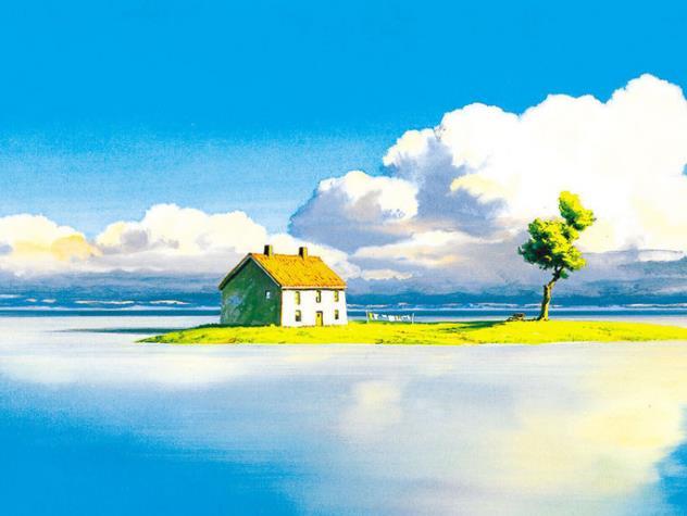 宫崎骏漫画中那些温馨感人的风景与画面!